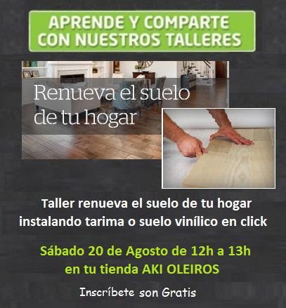 Taller renueva el suelo de tu hogar instalando tarima o for Instalacion suelo vinilico click